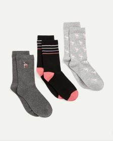 3-Pack Patterned Socks