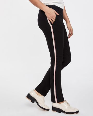 d82106e0487e22 The Iconic Straight Leg Pants with Contrasting Band