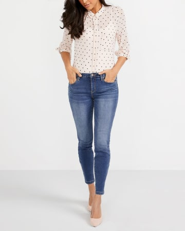 The Tall Skinny Sculpting Ankle Jeans
