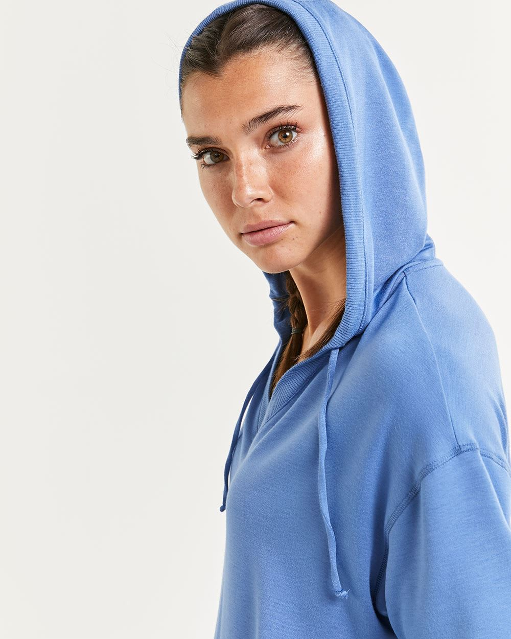 Hooded Short Sleeve Sweatshirt Hyba