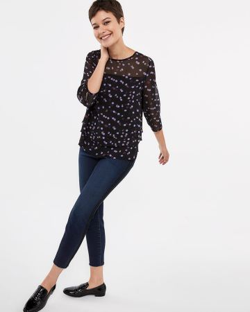 3/4 Sleeve Tier Blouse