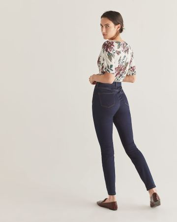 The Signature Soft Dark Wash High Waist Skinny Jeans