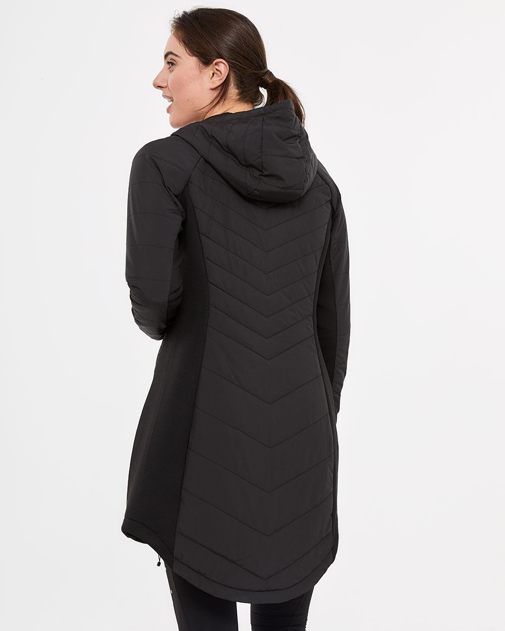 Hyba Long Quilted Packable Coat