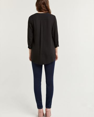 3/4 Sleeve Collarless Tunic