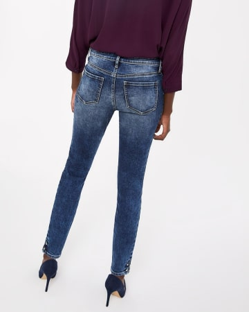 The Insider Medium Wash Skinny Barbell Jeans