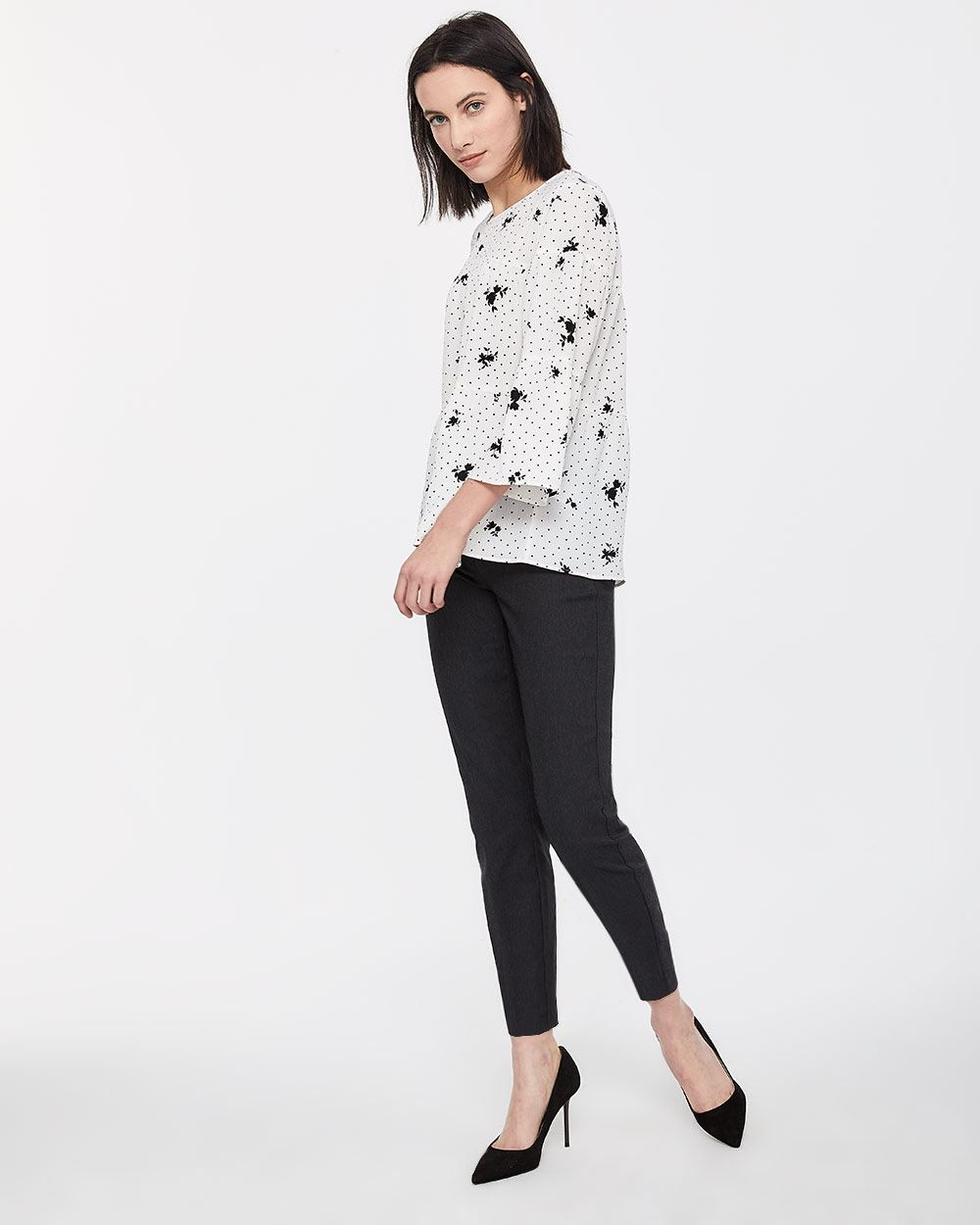 3/4 Bell Sleeve Blouse