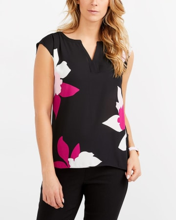 Mix Media Printed Top