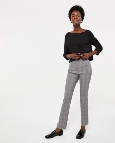 The Iconic Straight Leg Pattern Pants