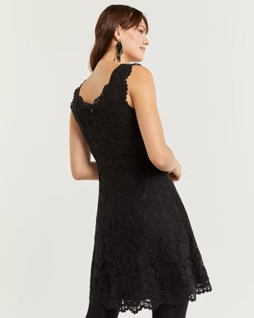 Fit & Flare Sleeveless Lace Dress