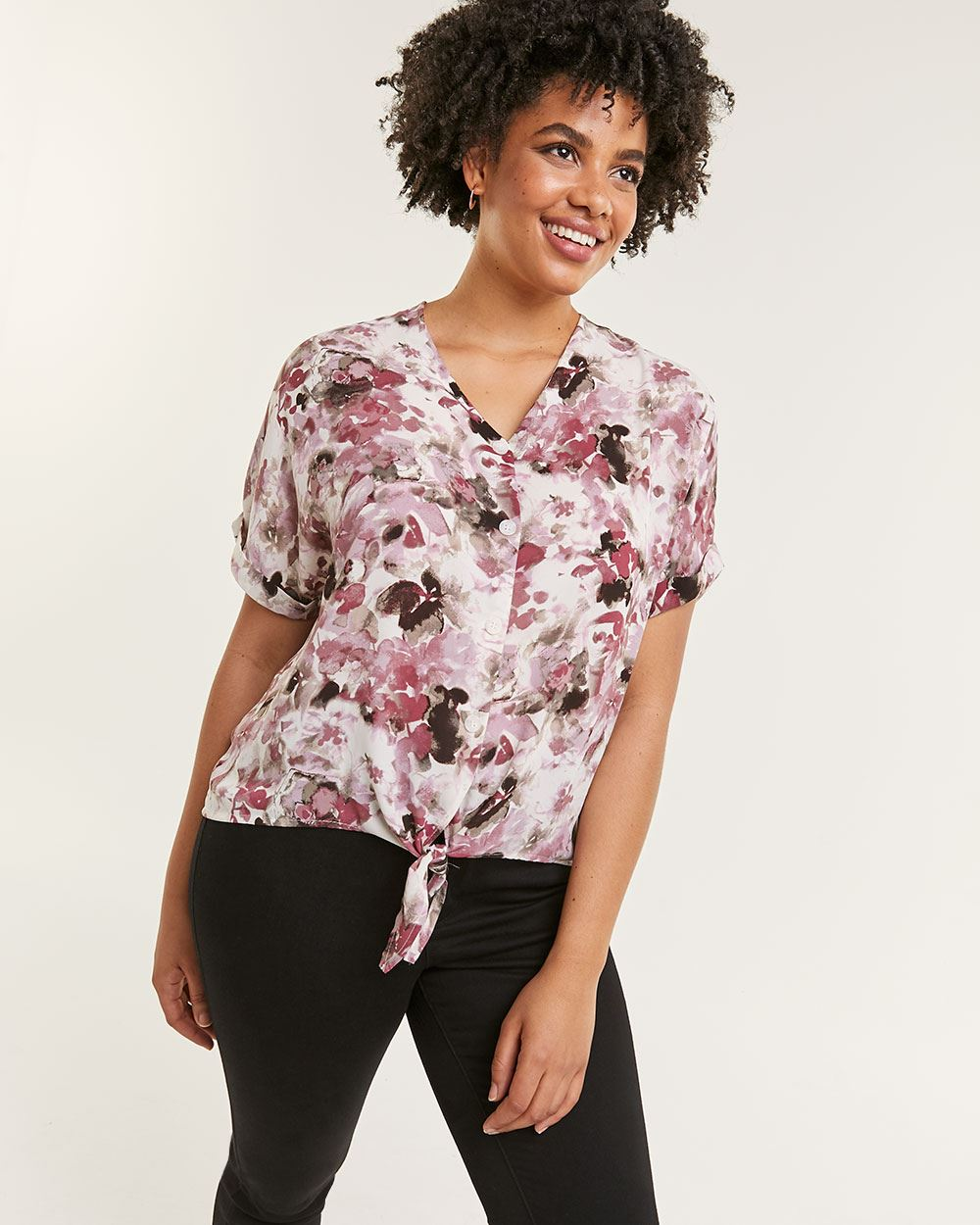 Printed Drop Shoulder Blouse