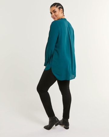Long Sleeve Bow Neck Tunic