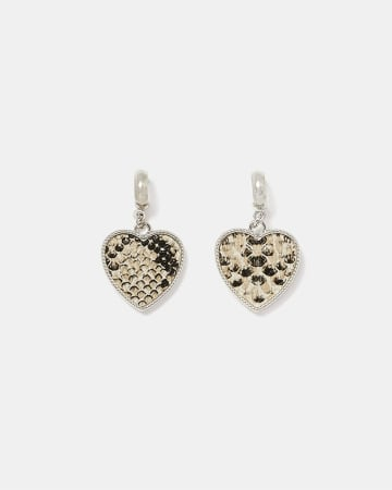 Heart-Shaped Drop Earrings
