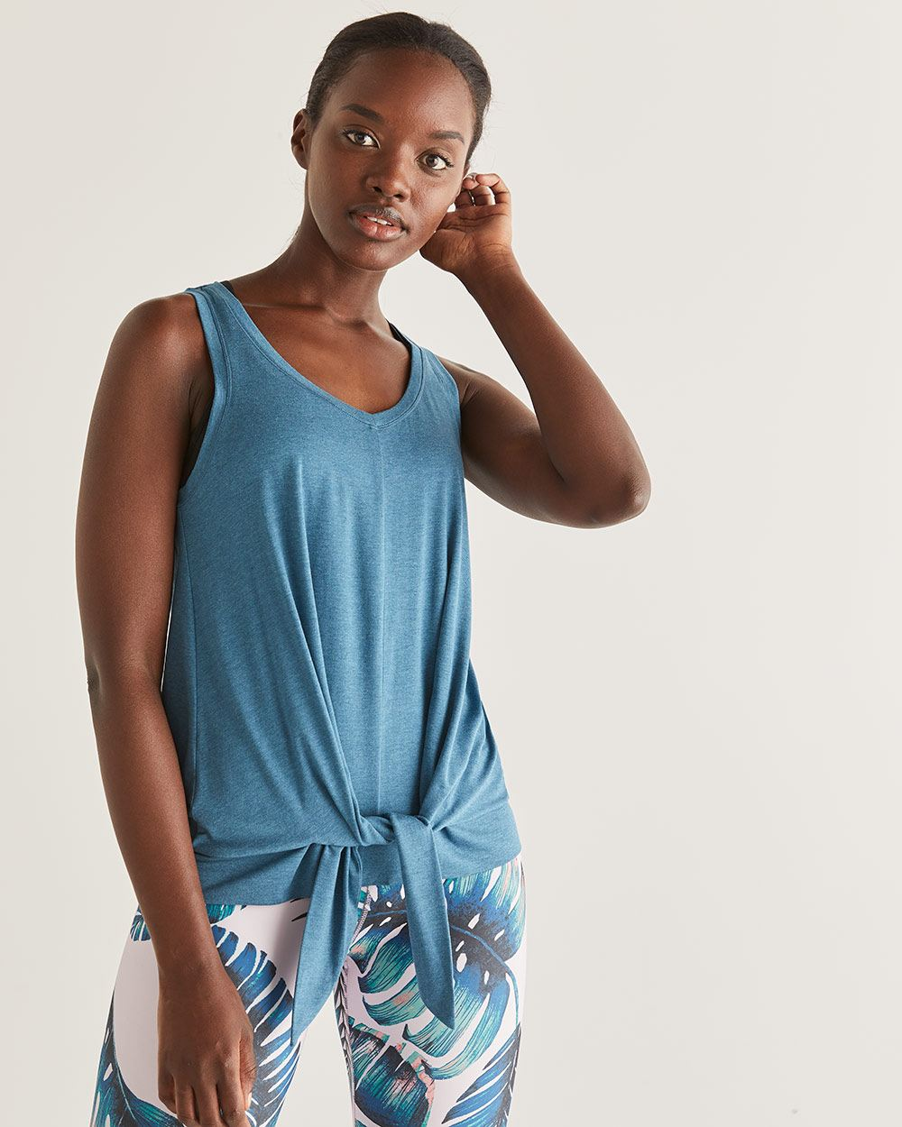 Hyba Front Knot Tank Top