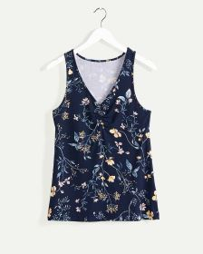 Sleeveless V-Neck Printed Pyjama Cami