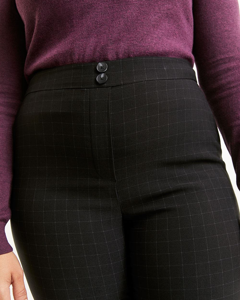 Super High Rise Slim Windowpane Pull On Pants The Iconic