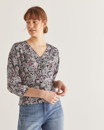 Empire Cut Buttoned-Down Blouse