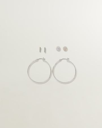 3-Pair Set of Earrings