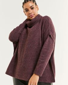 Long Sleeve Cowl Neck Poncho
