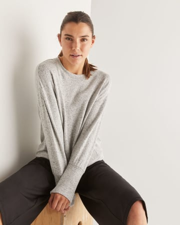 Hyba Long Sleeve Sweater with Pockets