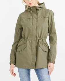 Water Repellent Hooded Anorak
