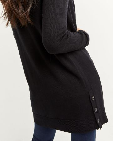 Cardigan with Side Buttons