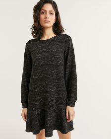 Long Sleeve Crew Neck Jacquard Dress