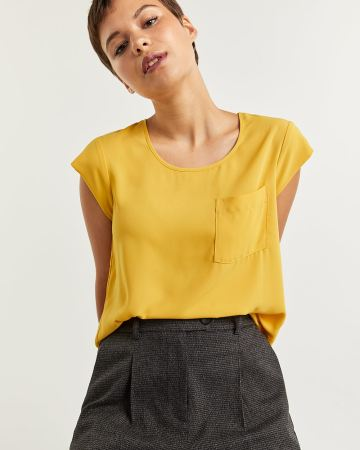 R Essentials Blouse with Pocket
