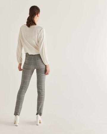 The Iconic Glen Plaid Straight Pull On Pants