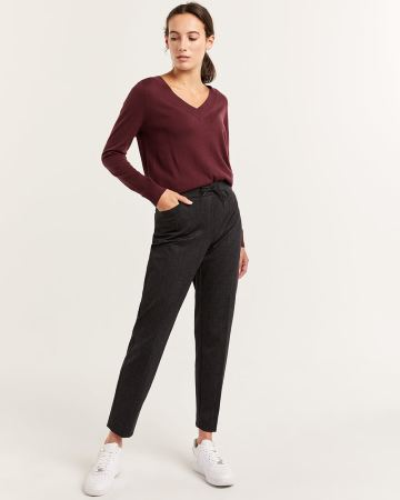 Plaid Jogger Pull On Pants - Tall