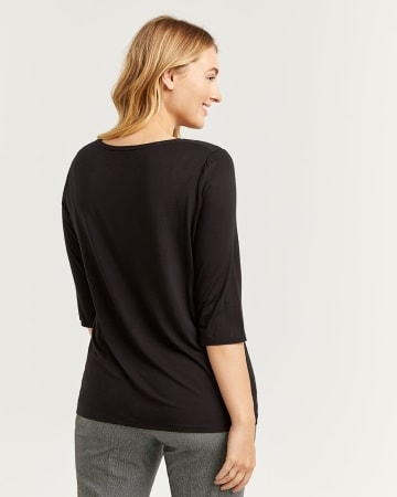 Front Twist 3/4 Sleeve Tee