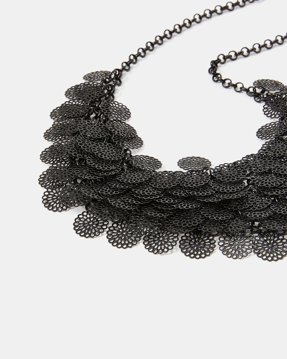 Statement Floral Filigree Bead Necklace