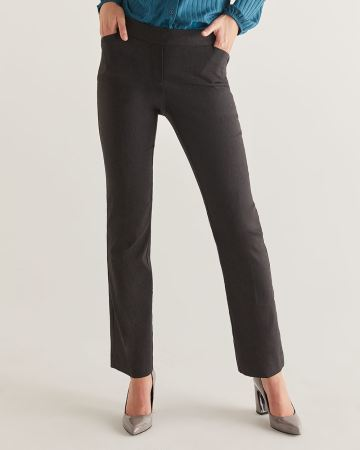 The Iconic Bootcut Pull On Grey Pants - Petite