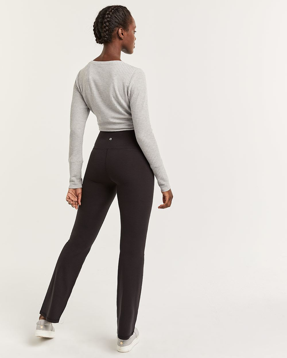 Hyba Black Namaste Yoga Flared Pants