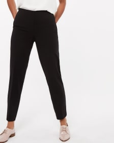 Elastic Waist Pull-on Black Pants