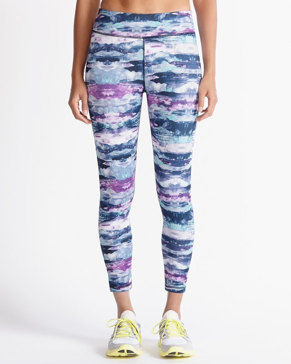 Hyba Fast Track Abstract Cropped Legging