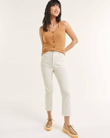 Super High Rise Straight Leg Cropped Jeans