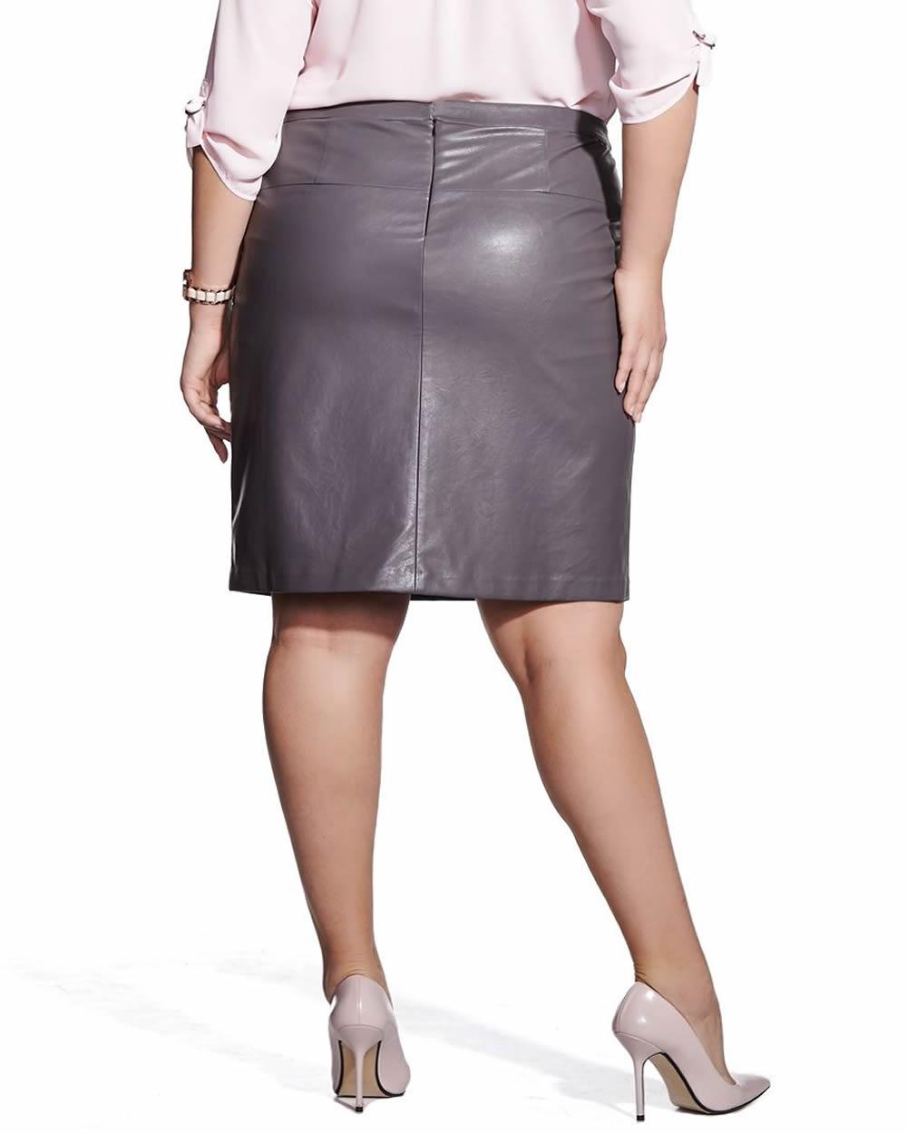 plus size faux leather skirt plus sizes reitmans