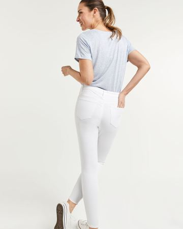 Ankle White Skinny Jeans