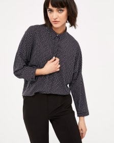 Willow & Thread Printed Blouse with Dolman Sleeves