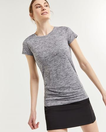 Short Sleeve Tee with Shirring Ultra Soft Hyba
