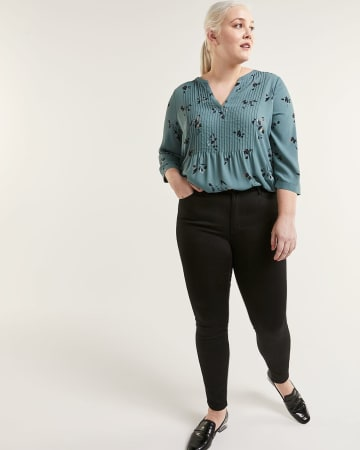 High Waist Skinny Black Jeans The Signature Soft - Petite