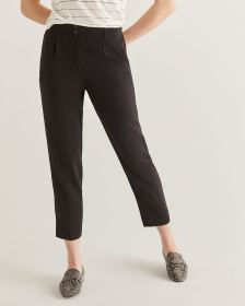 Slim Black Ankle Pants - Petite