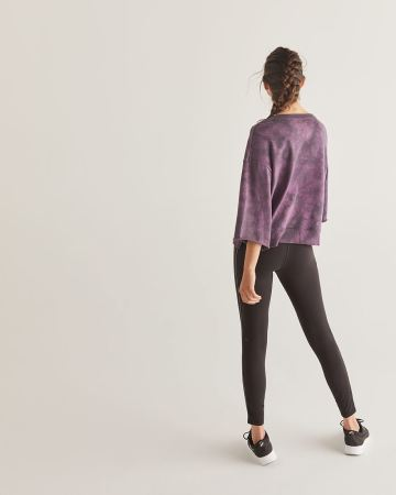 Hyba Tie-Dye Sweatshirt with Bell Sleeves