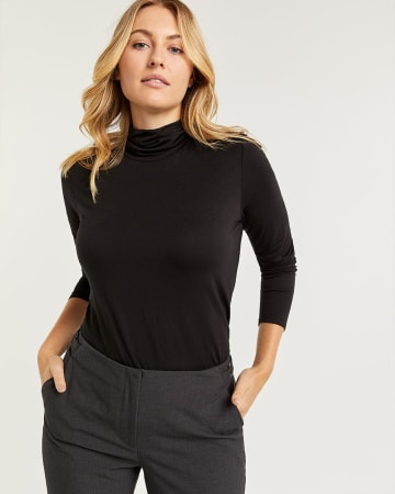 R Essentials Long Sleeve Turtleneck Tee