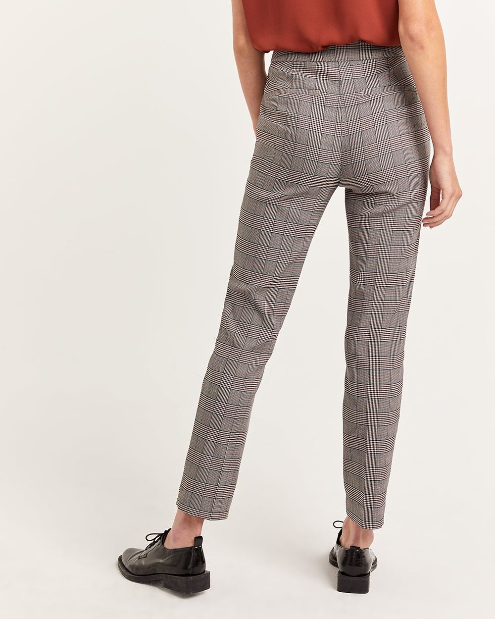 The Iconic High Waist Pull On Glen Plaid Pants
