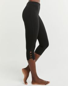 Capri Leggings with Lattice Details
