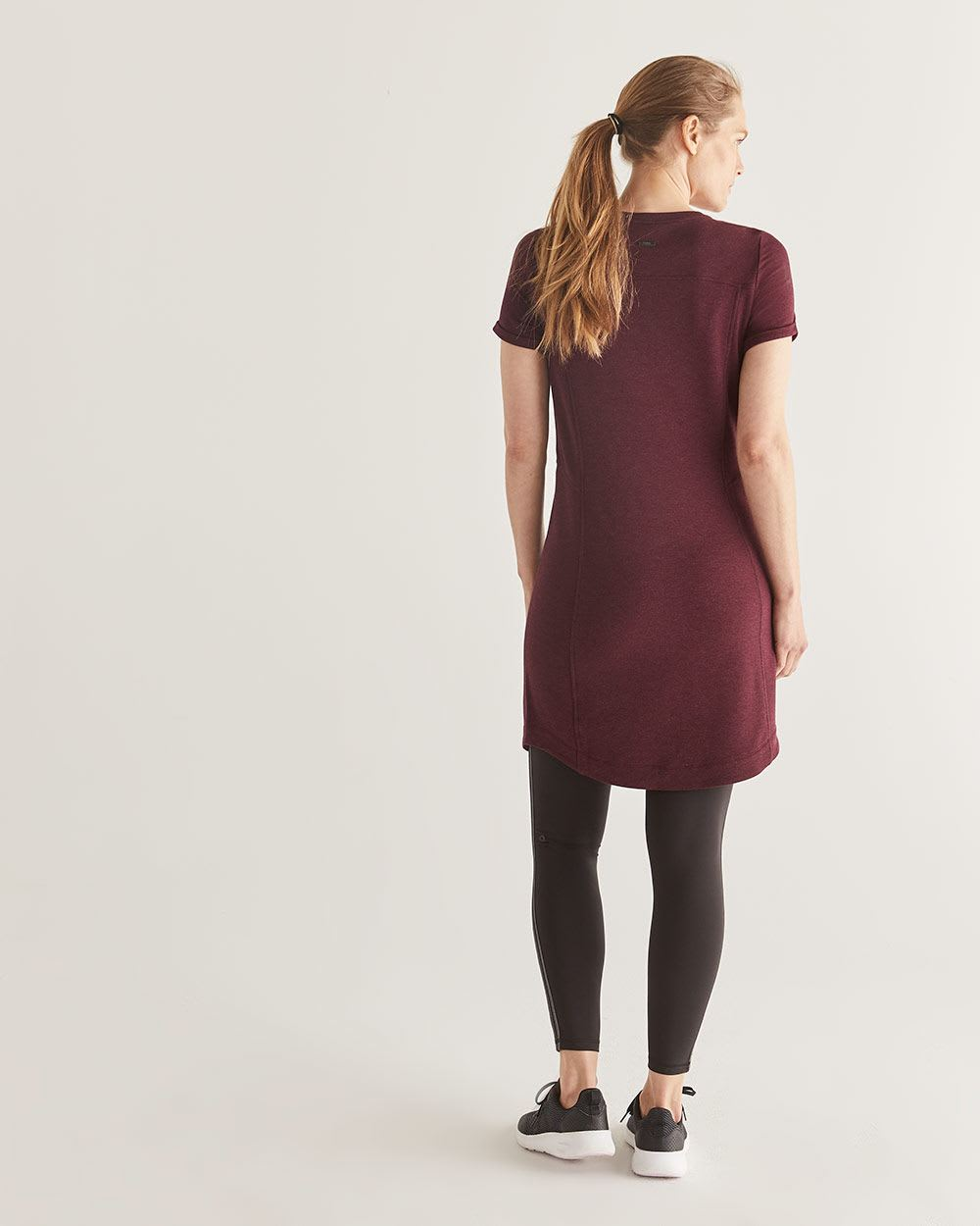 Hyba French Terry T-Shirt Dress with Pockets