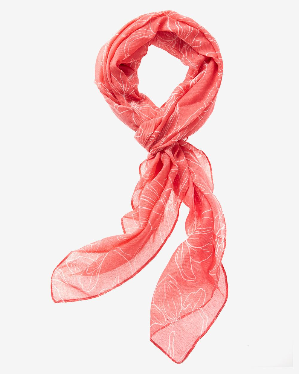 Flower Coral Scarf