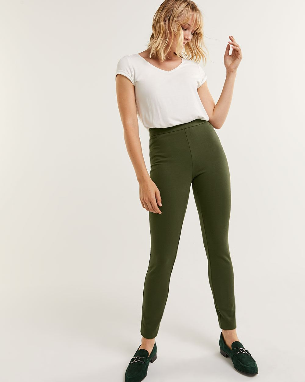HIgh Rise Ponte de Roma Leggings - Petite