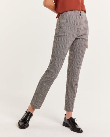 The Iconic High Waist Pull On Glen Plaid Pants - Tall